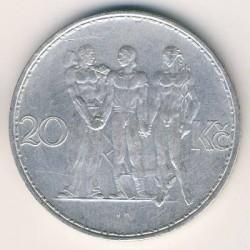 Moneta > 20corone, 1933-1934 - Cecoslovacchia  - reverse