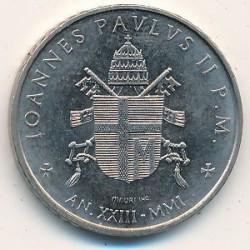 Minca > 100lire, 2001 - Vatikán  - obverse