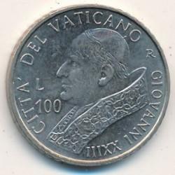 Minca > 100lire, 2001 - Vatikán  - reverse
