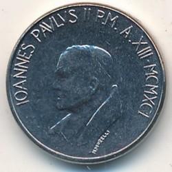 Mynt > 50lire, 1991 - Vatikanstaten  - obverse