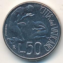 Mynt > 50lire, 1991 - Vatikanstaten  - reverse