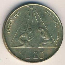 Монета > 20лири, 1983 - Ватикан  - reverse