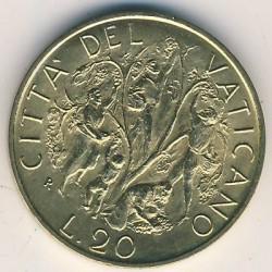 Mynt > 20lire, 1989 - Vatikanstaten  - reverse