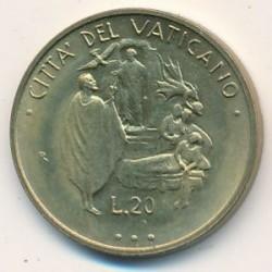Monēta > 20liru, 1995 - Vatikāns  - reverse