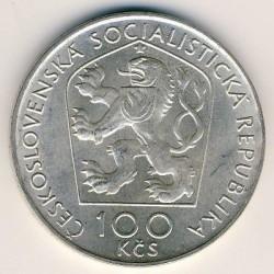 Moneta > 100corone, 1976 - Cecoslovacchia  (100° anniversario - Morte di Janko Kráľ) - obverse