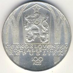 Moneta > 100corone, 1980 - Cecoslovacchia  (650° anniversario - Nascita di Peter Parler) - obverse
