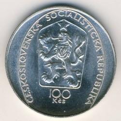 Moneta > 100kronų, 1985 - Čekoslovakija  (250th Anniversary - Death of Peter Brandl) - obverse