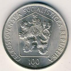 Moneta > 100corone, 1985 - Cecoslovacchia  (125° anniversario - Nascita di Martin Kukučín ) - obverse