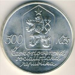 Moneta > 500corone, 1987 - Cecoslovacchia  (100° anniversario - Nascita di Josef Lada) - obverse