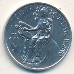 Mynt > 10lire, 1986 - Vatikanstaten  - reverse