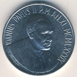Mynt > 10lire, 1989 - Vatikanstaten  - obverse