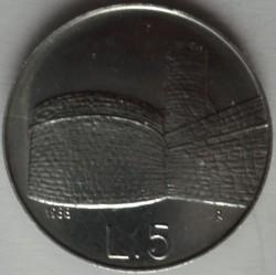 Монета > 5лір, 1988 - Сан-Марино  (Укріплення Сан-Марино) - reverse