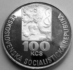 Moneta > 100kronų, 1978 - Čekoslovakija  (75th Anniversary - Birth of Julius Fucik) - obverse