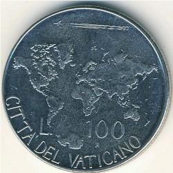 Mynt > 100lire, 1985 - Vatikanstaten  - reverse