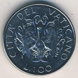 Minca > 100lire, 1989 - Vatikán  - reverse