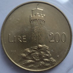 Moneda > 200lire, 1988 - San Marino  (Enfortiment de San Marino) - obverse