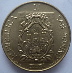 Moneda > 200lire, 1988 - San Marino  (Enfortiment de San Marino) - reverse