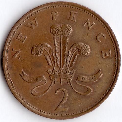Монета new pence 2 6 евро