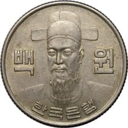 Monēta > 100vonu, 1970-1982 - Dienvidkoreja  - obverse