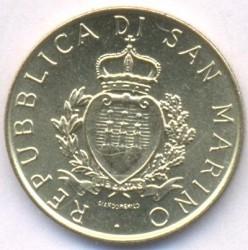 Moneda > 200lire, 1987 - San Marino  (15è aniversari - Represa de la Moneda) - obverse