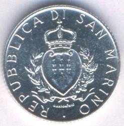 Moneda > 2lire, 1987 - San Marino  (15è aniversari - Represa de la Moneda) - obverse