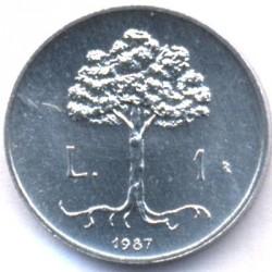 العملة > 1ليرة, 1987 - سان مارينو  (15th Anniversary - Resumption of Coinage) - reverse