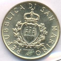 Moneda > 20liras, 1987 - San Marino  (15 aniversario - Reanudación de la moneda) - obverse