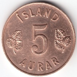 Monēta > 5unces, 1946-1966 - Islande  - obverse
