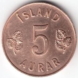 Münze > 5Aurar, 1946-1966 - Island   - reverse