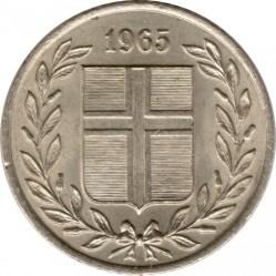 Монета > 25ейре, 1946-1967 - Ісландія  - obverse