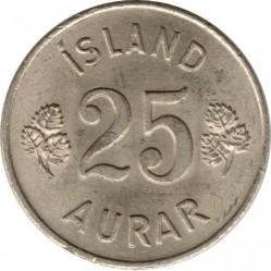 Монета > 25ейре, 1946-1967 - Ісландія  - reverse