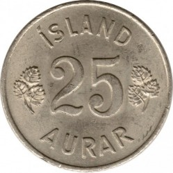 Mynt > 25aurar, 1946-1967 - Island  - reverse