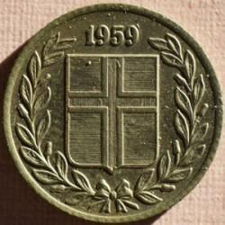 Монета > 25ейре, 1959 - Ісландія  - obverse