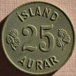 Монета > 25ейре, 1959 - Ісландія  - reverse