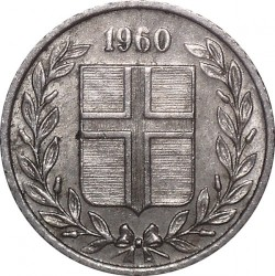Mynt > 10aurar, 1960 - Island  - reverse