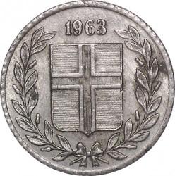 Mynt > 10aurar, 1963 - Island  - obverse