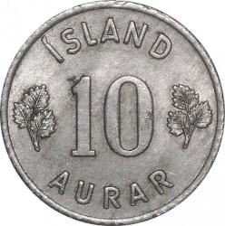 Mynt > 10aurar, 1963 - Island  - reverse
