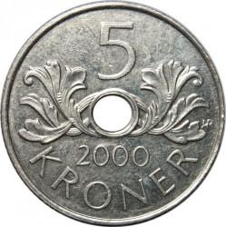 Монета > 5крон, 1998-2017 - Норвегія  - reverse