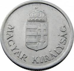 Munt > 1pengő, 1941-1944 - Hongarije  - obverse