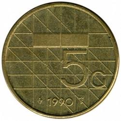 Monēta > 5guldeņi, 1988-2001 - Nīderlande  - reverse