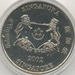 Moneta > 5dollari, 2002 - Singapore  (Esplanade - Teatri sulla baia) - obverse