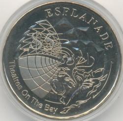 Moneta > 5dollari, 2002 - Singapore  (Esplanade - Teatri sulla baia) - reverse