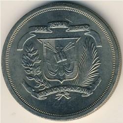 Minca > 1peso, 1978-1981 - Dominikánska republika  - obverse