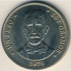 Minca > 1peso, 1978-1981 - Dominikánska republika  - reverse