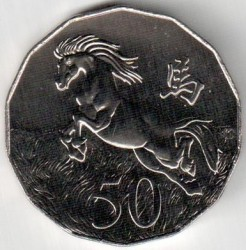 Moneta > 50centesimi, 2014 - Australia  (Anno lunare - Anno del cavallo) - obverse