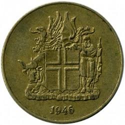 Монета > 1крона, 1946 - Ісландія  - obverse