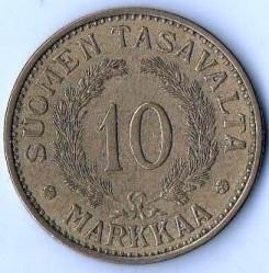 Münze > 10Mark, 1937 - Finnland  - reverse