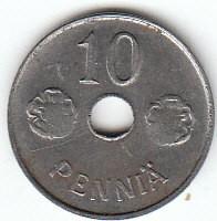 Münze > 10Penny, 1943 - Finnland  - obverse
