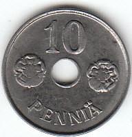 Münze > 10Penny, 1944 - Finnland  - reverse