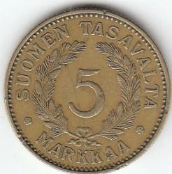 Münze > 5Mark, 1931 - Finnland  - reverse